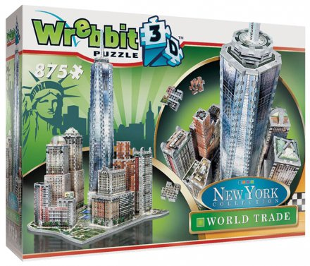 Nowy Jork Downtown World Trade Wrebbit 3d puzzle 875 el.