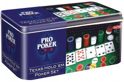 Texas Hold'em poker Set in Tin