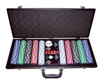 Pro Poker Leatherette case 500 chips
