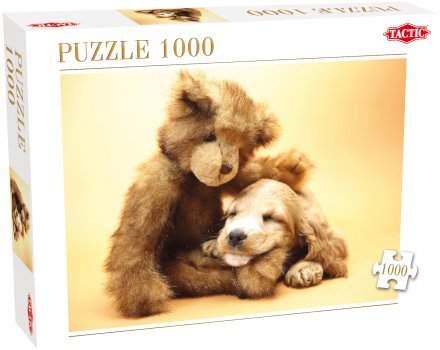 Puppy and a Teddy Bear 1000 Piece Puzzle