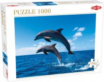 Two Dolphins Jumping 1000 Piece Puzzle