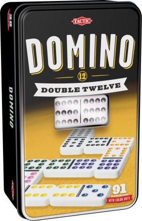 Domino Double 12 metallirasiassa