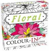 Colour-In Puzzle Floral 1000 stukjes
