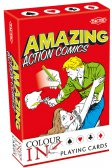 Colour-In Playing Cards Action Comics
