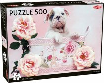 Puppy and Roses puzzle - 500 stukjes