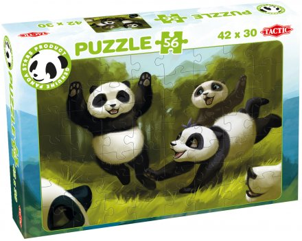 Panda Stars puzzle 56 pcs selection 3x2