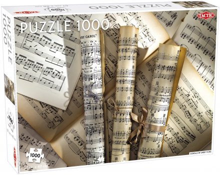 Scrolls of sheet music palapeli 1000 palaa