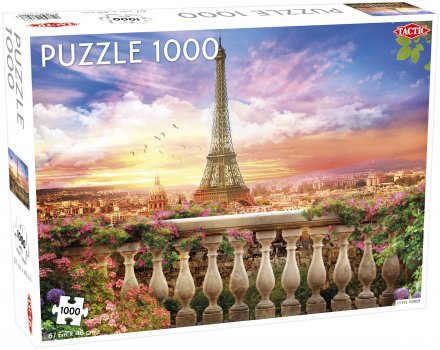 Puzzel Around the World: Eiffel Tower, Paris - 1000 stukjes