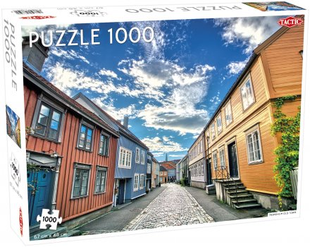 Puslespill 1000 Trondheim Old Town