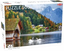 Puzzel Landscape: Swans on a Lake - 500 stukjes