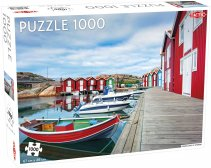 Puzzel Around the World, Northern Stars: Fishing huts in Smögen - 1000 stukjes
