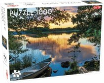 Puzzel Around the World, Northern Stars: Summer Night in Finland - 1000 stukjes