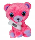 Lumo Get Well Pink Bear with thermometer