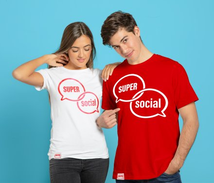 Alias Super Social Unisex T-paita Punainen - M