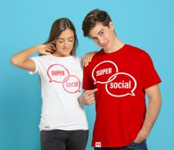 Alias Super Social Unisex T-paita Valkoinen - L