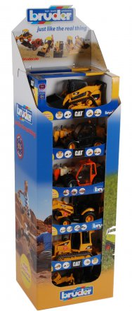 Construction vehicles display 12 pcs