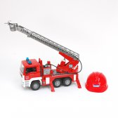 MAN TGA fire engine with ladder, pump, L+S module + toy helmet