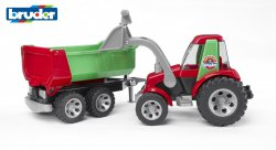 ROADMAX Tractor with frontloader and rear tipper