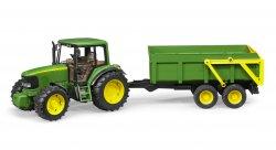 John Deere 6920 traktori kippiperävaunulla