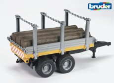 Timber trailer with 3 trunks