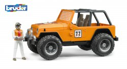 Jeep Cross Country Racer, orange, med förare