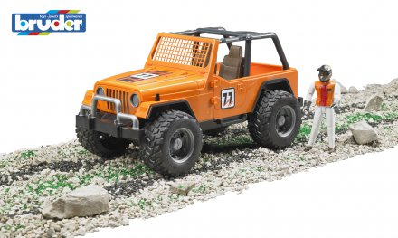 Jeep Cross country racer orange with driver
