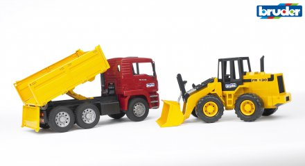 MAN TGA Construction truck and articulated road loader FR 130