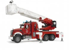 MACK Granite Fire engine with slewing ladder and water pump