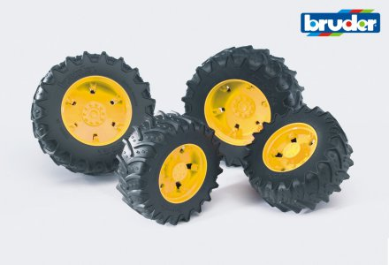 Accessories: Twin tyres with yellow rims, premium-pro