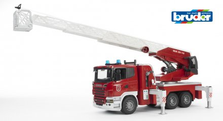 Scania R-Series Fire engine, slewing ladder, waterpump + L&S Module