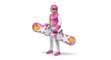 Snowboarder (female) with accessories