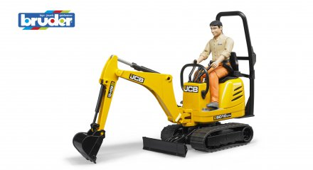 JCB Micro excavator 8010 CTS and construction worker
