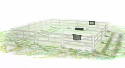 Accessories: Horse fence (white)