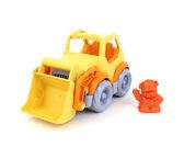 Keltainen/Oranssi Työmaa-auto etukauhalla + kuljettaja