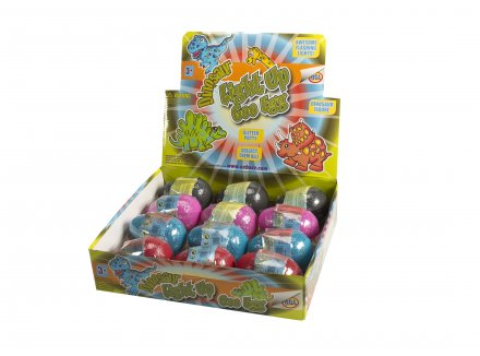 Flashing Dino Egg with Putty 12 pcs display