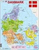 Larsen Tanskan poliittinen kartta (Maxi) 70 palaa