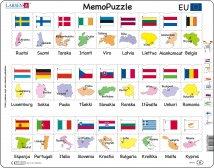 Larsen Memo EU maat: maa, pääkaupunki, lippu (Maxi) 54 palaa