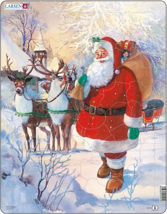Larsen Santa with sleigh (Maxi) 50 palaa