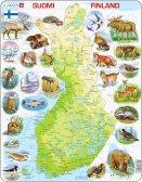 Larsen Suomen kartta ja eläimiä (Maxi) 78 palaa