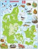 Larsen Tanskan kartta ja eläimiä (Maxi) 66 palaa