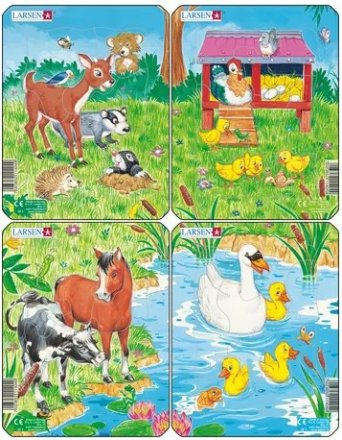 Larsen Cute Animals 4x1 (Mini)
