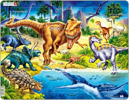 Larsen Dinosaurukset, liitukausi (Maxi) 57 palaa