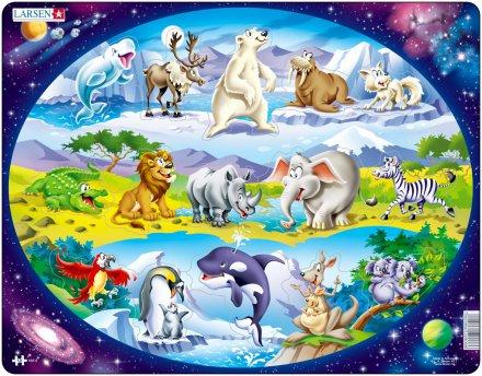 Larsen Eläimiä ympäri maailmaa (Maxi) 15 palaa