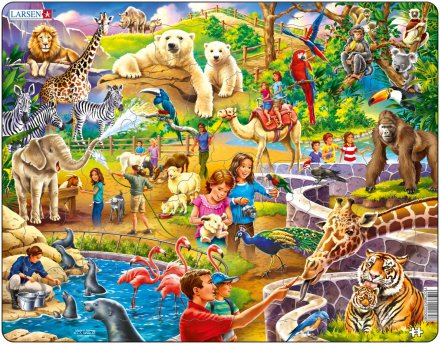 Larsen Eläintarha (Maxi) 48 palaa