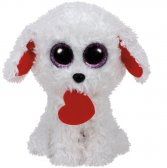 Ty Honey Bun - white dog with heart regular