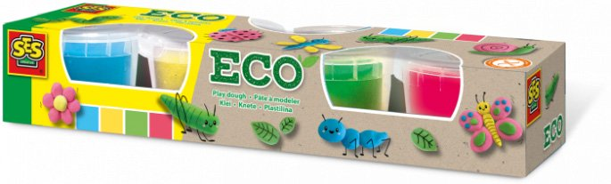 Eco play dough 4 farger