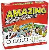 Colour-In Puzzle Amazing Action Comics 1000 stukjes