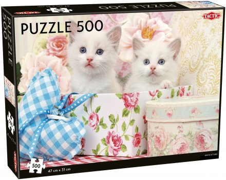 White Kittens puzzle 500 pcs