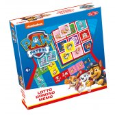 Paw Patrol 3-in-1 : Memo, Lotto, Domino