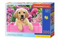 Labrador Puppy in Pink Box - 300 stukjes